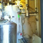 Before (1) 80 Gallon Commercial Natural Gas Water Heater